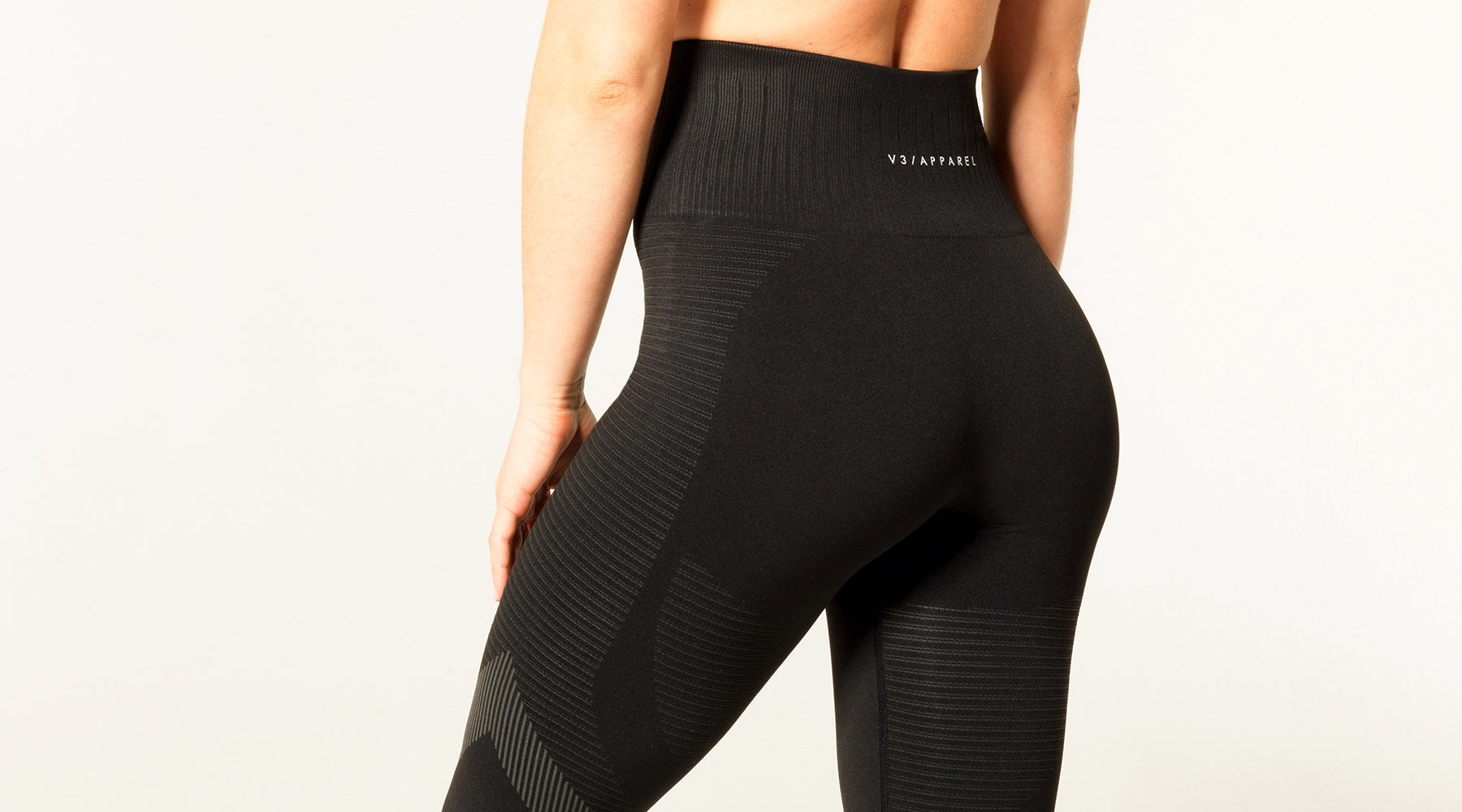 V3 Apparel seamless squat proof elevate leggings black