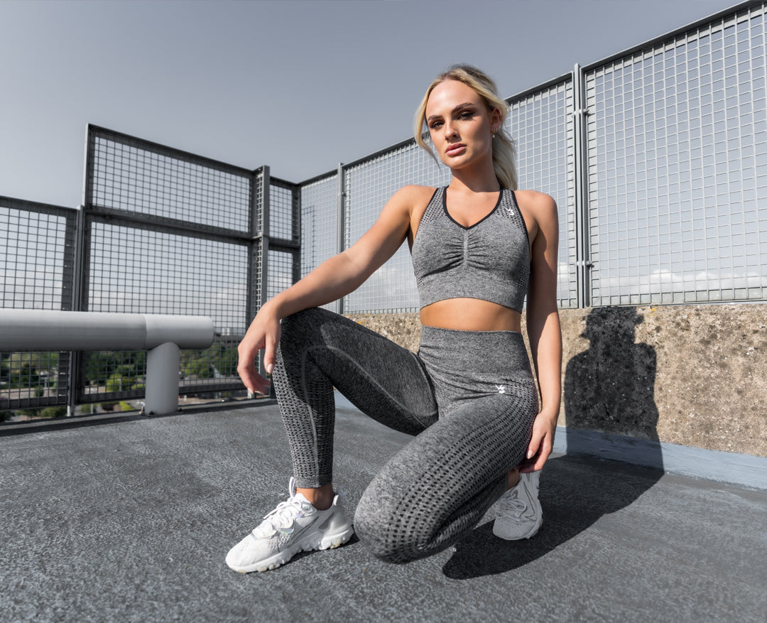 Womens seamless squat proof leggings and gym workout tights V3 Apparel empower