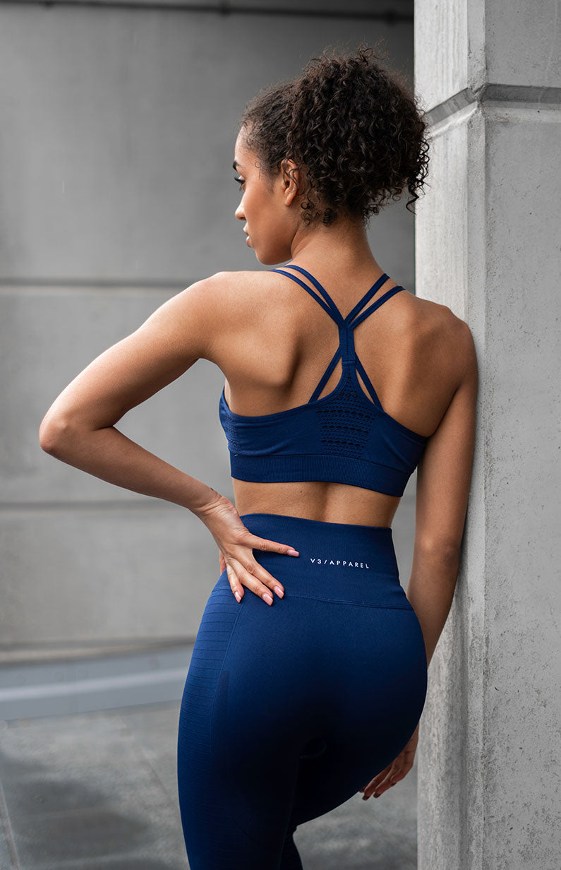 Contour Seamless Sports Bra - Navy
