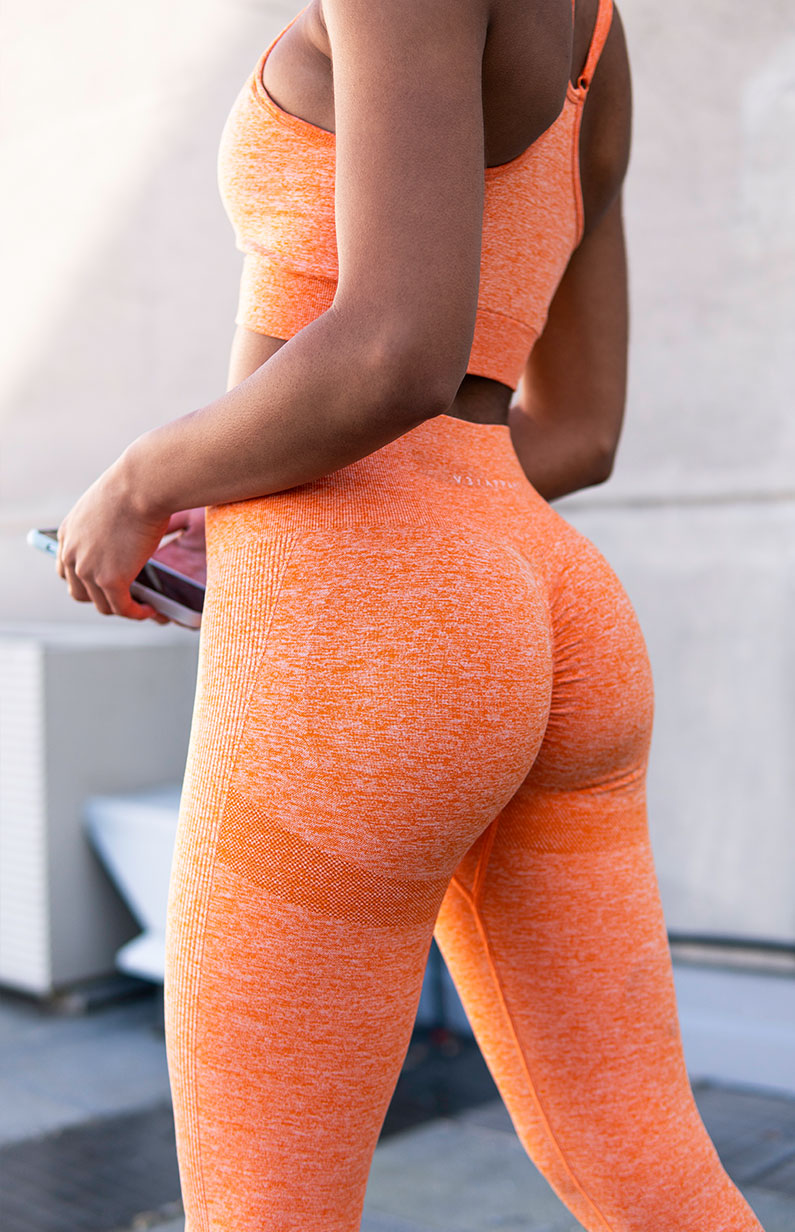 Define Seamless Scrunch Leggings - Orange Marl