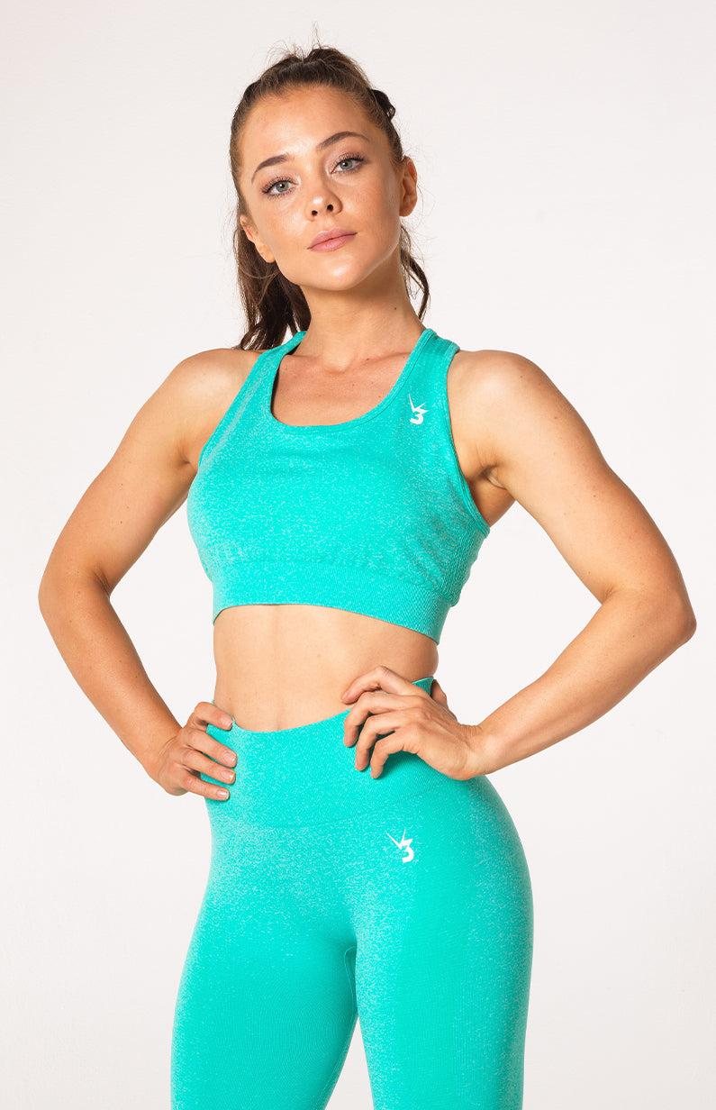 Uplift Seamless Sports Bra - Mint Marl