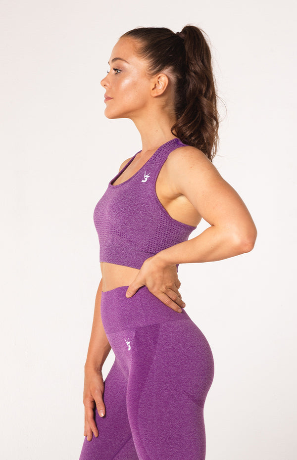 Uplift Seamless Sports Bra - Purple Marl