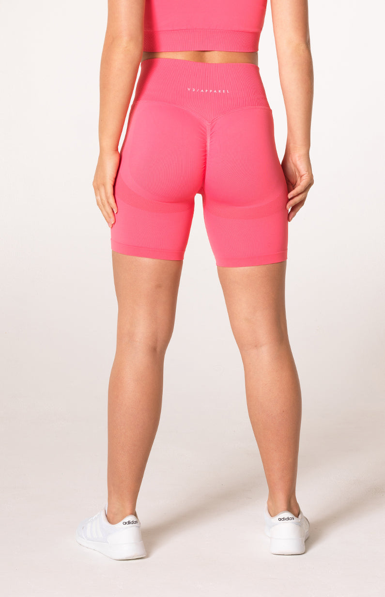 Define Seamless Scrunch Shorts - Coral