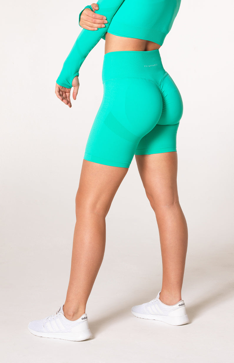Define Seamless Scrunch Shorts - Teal