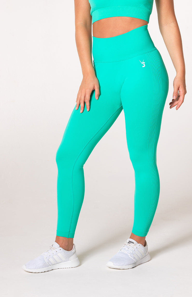 Define Seamless Scrunch Leggings - Teal