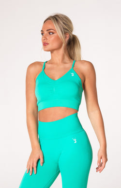 Define Seamless Scrunch Sports Bra - Teal