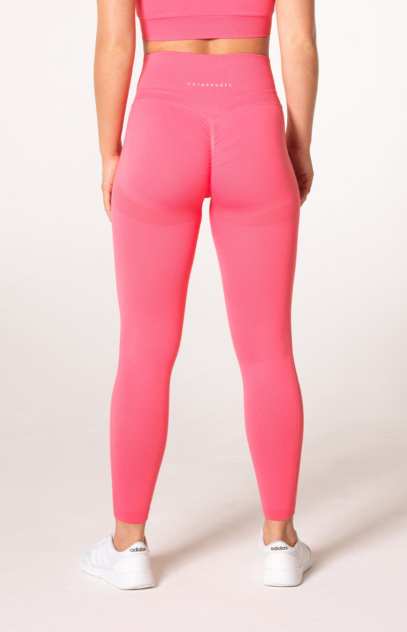 Define Seamless Scrunch Leggings - Coral