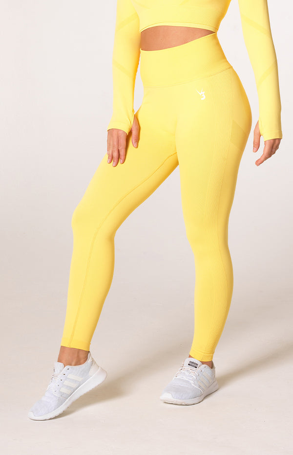 Define Seamless Scrunch Leggings - Lemon