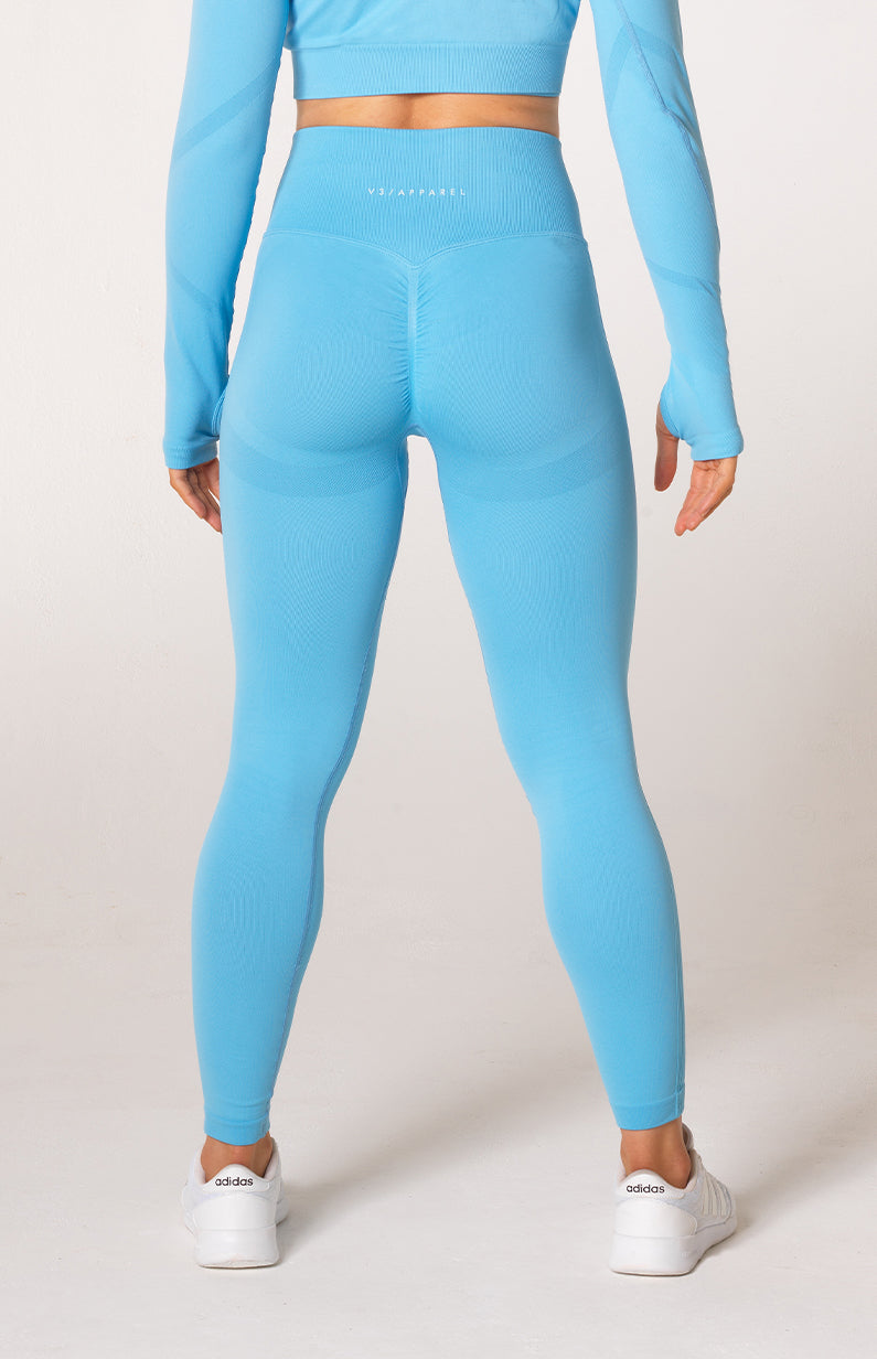 Define Seamless Scrunch Leggings - Sky Blue