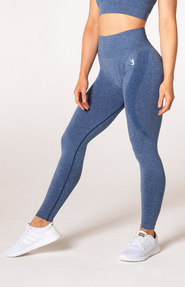 Uplift Seamless Leggings - Navy Marl