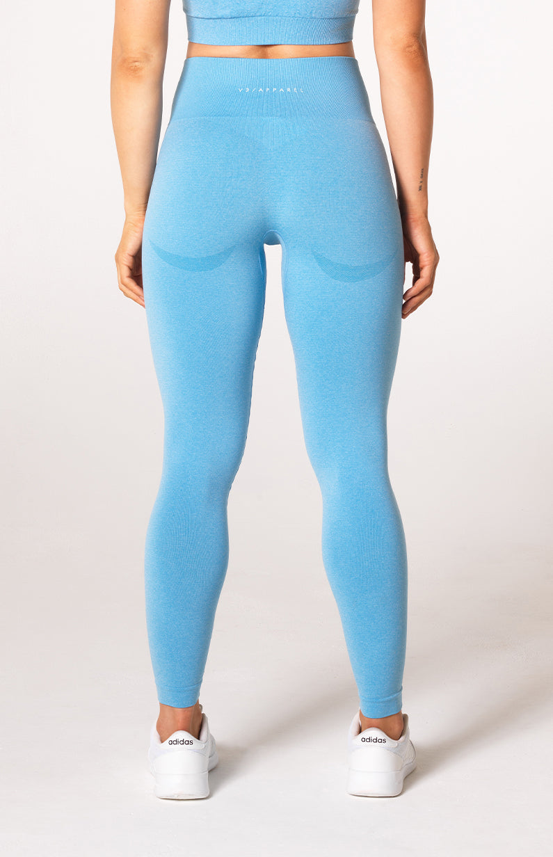 Uplift Seamless Leggings - Sky Blue Marl