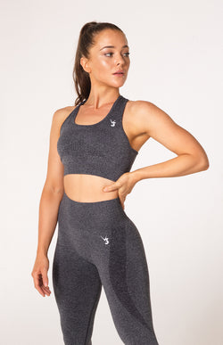 Uplift Seamless Sports Bra - Charcoal Marl