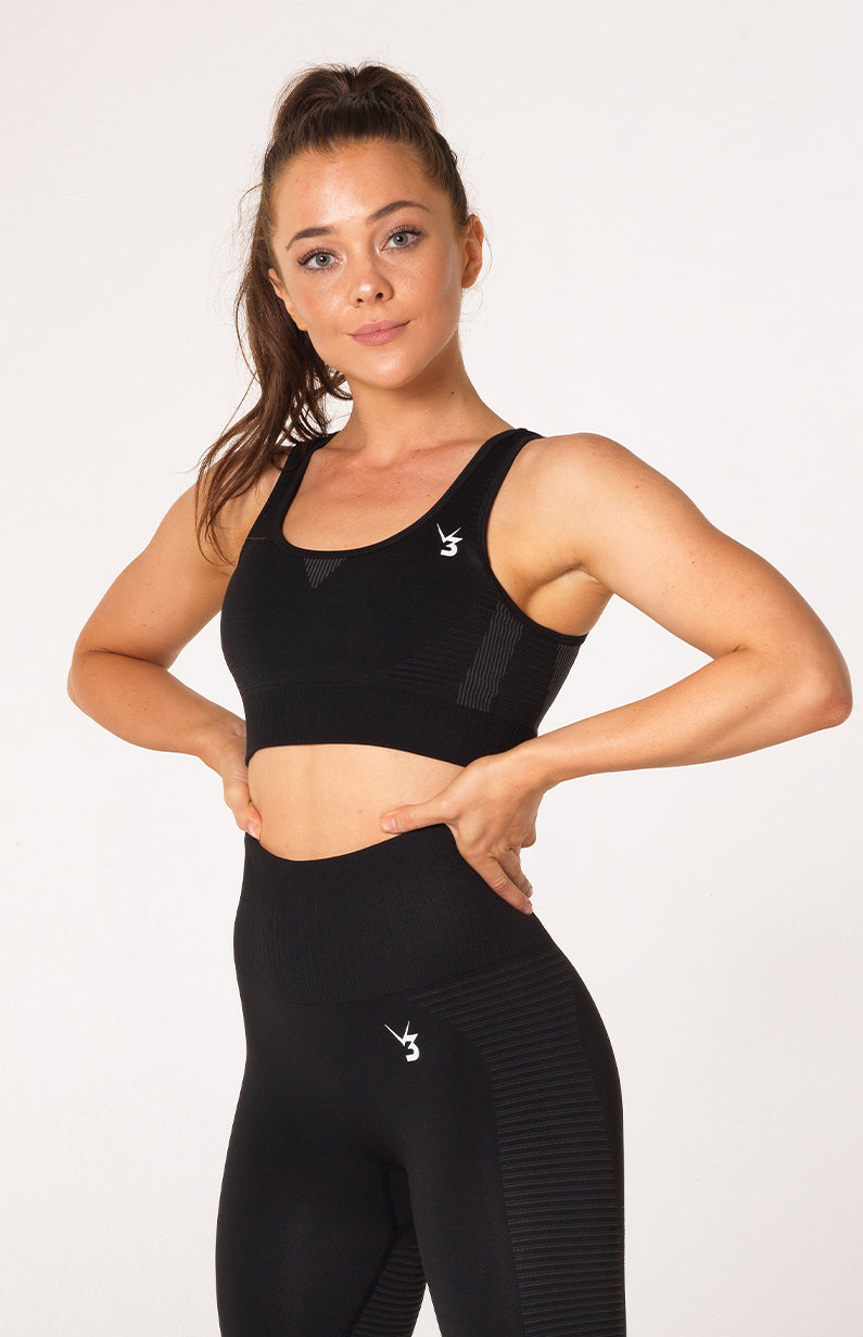 Elevate Seamless Sports Bra - Black