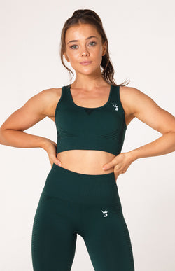 Elevate Seamless Sports Bra - Emerald