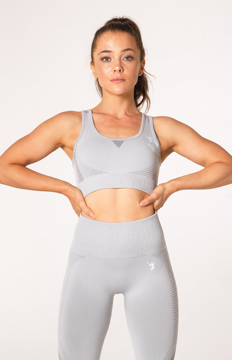 Elevate Seamless Sports Bra - Grey