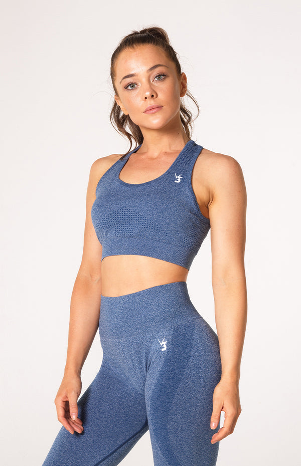 Uplift Seamless Sports Bra - Navy Marl