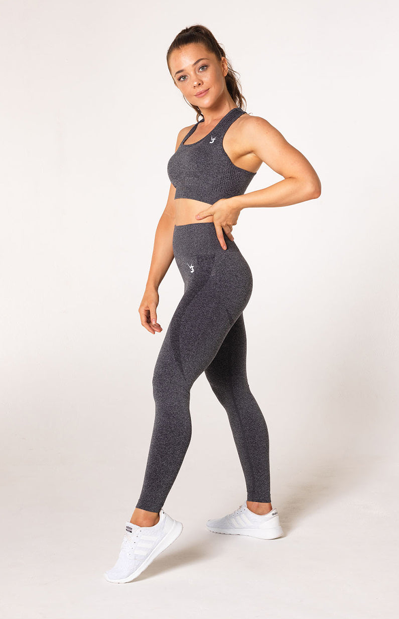Uplift Seamless Set - Charcoal Marl