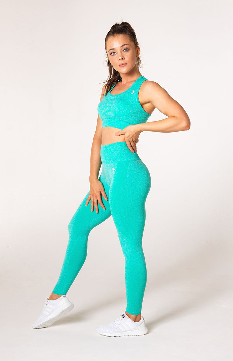 Uplift Seamless Set - Mint Marl