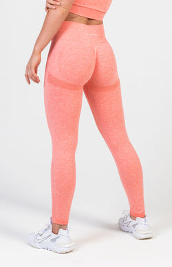 Define Seamless Scrunch Leggings - Peach Marl