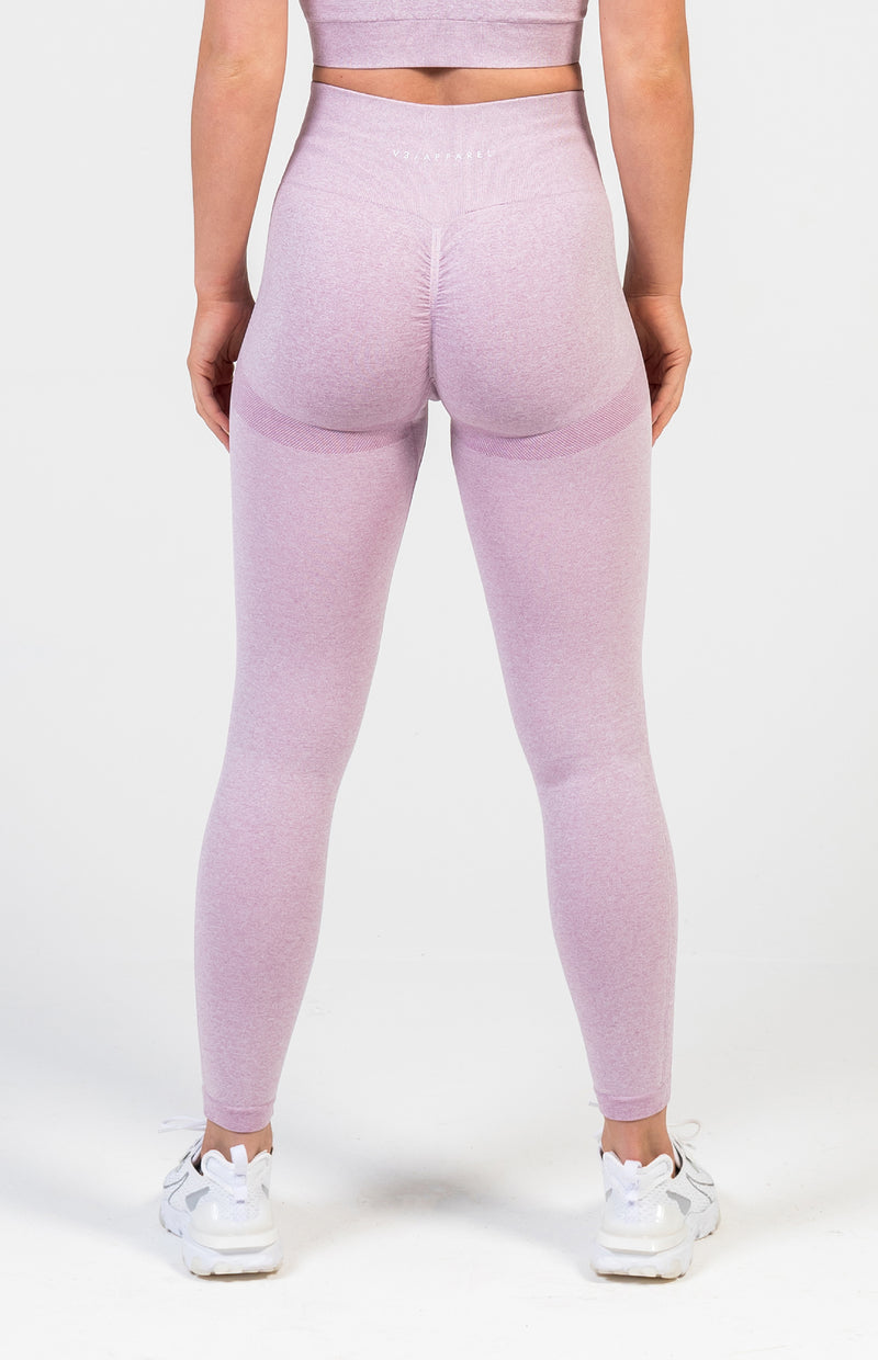 Define Seamless Scrunch Leggings - Lilac Marl