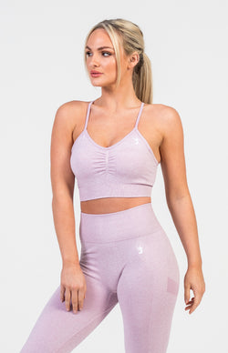 Define Seamless Sports Bra - Lilac Marl