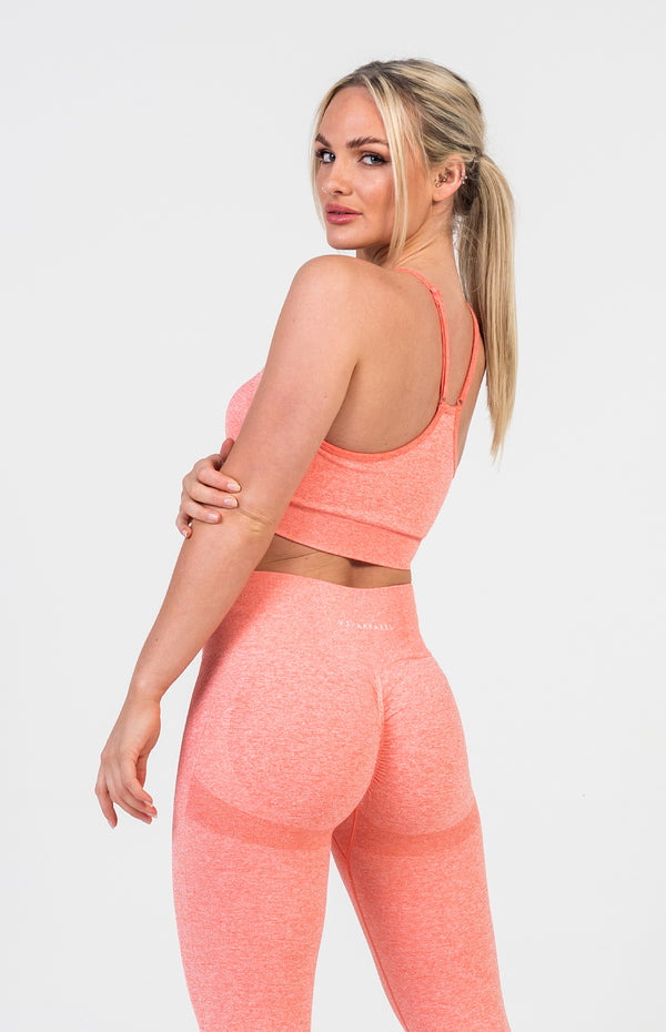 Define Seamless Sports Bra - Peach Marl
