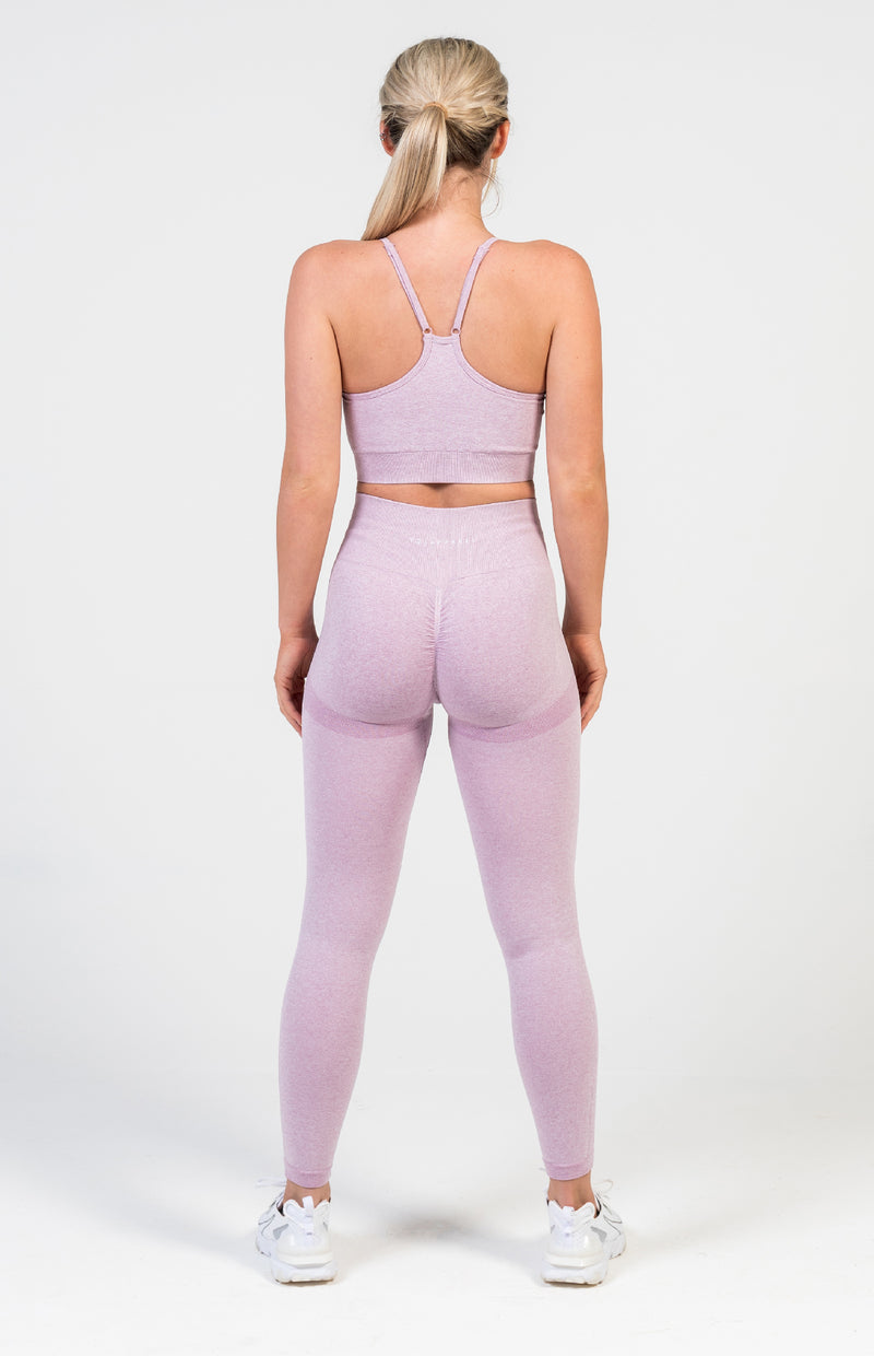 Define Seamless Scrunch Set - Lilac Marl