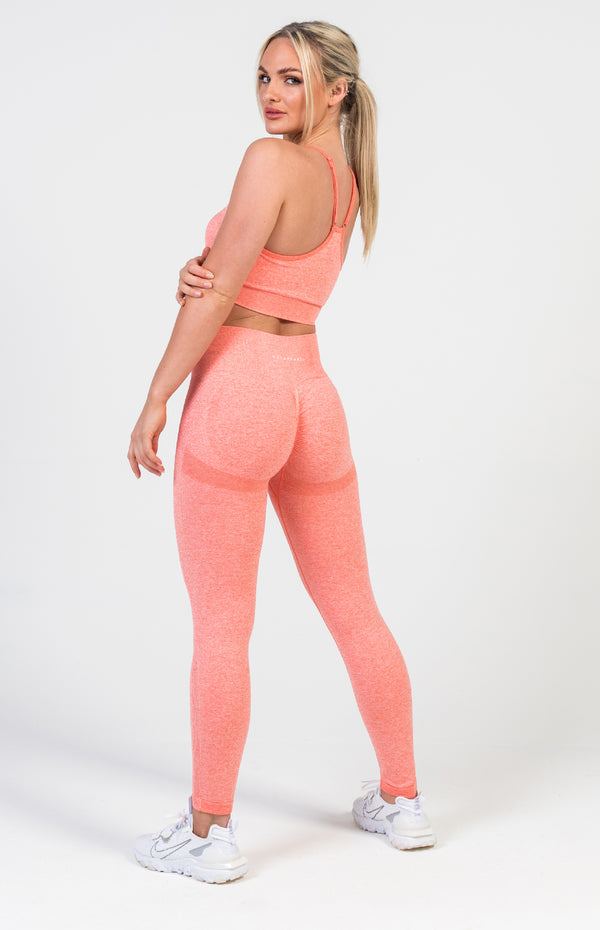 Define Seamless Scrunch Set - Peach Marl