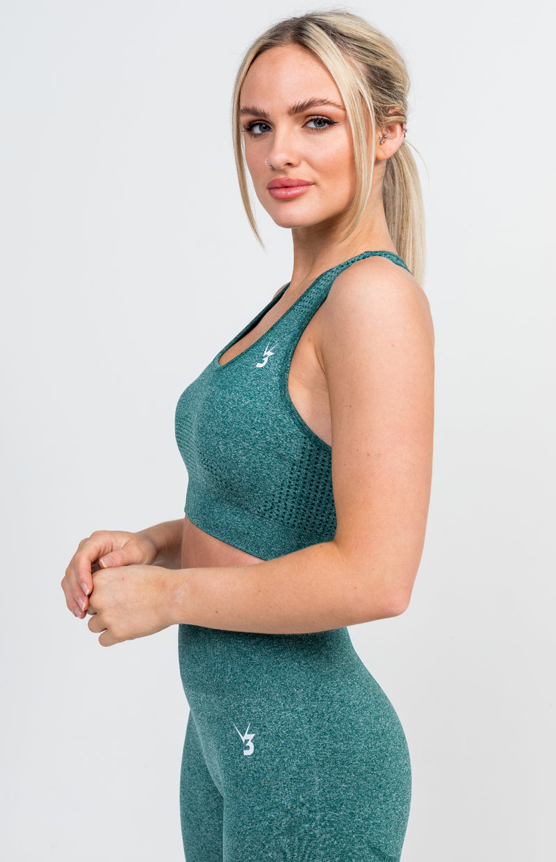 Uplift Seamless Sports Bra - Emerald Marl