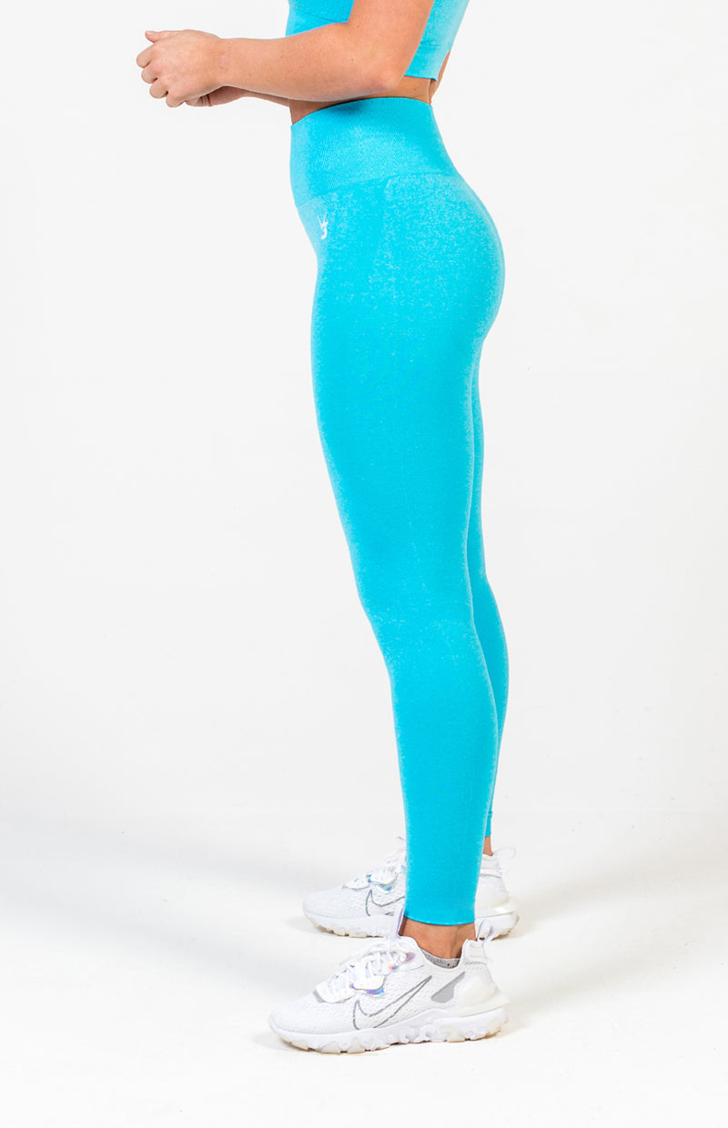 Uplift Seamless Leggings - Aqua Blue Marl