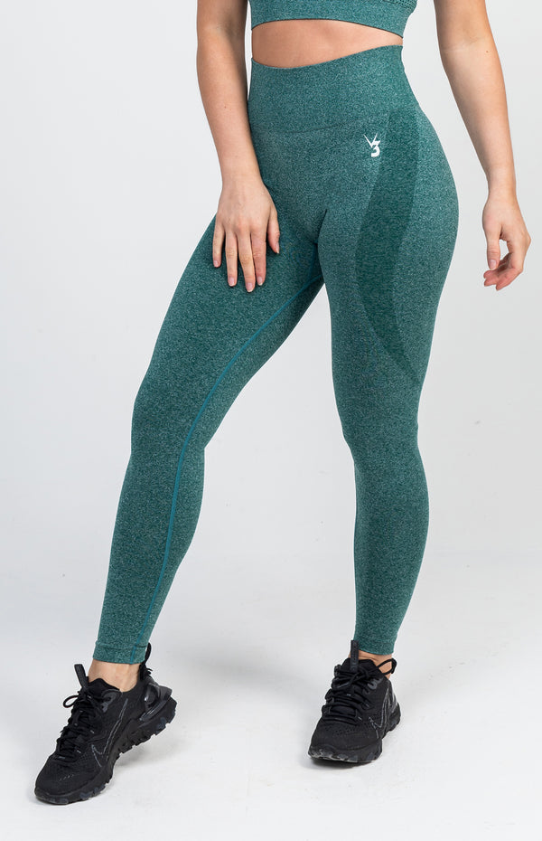 Uplift Seamless Leggings - Emerald Marl