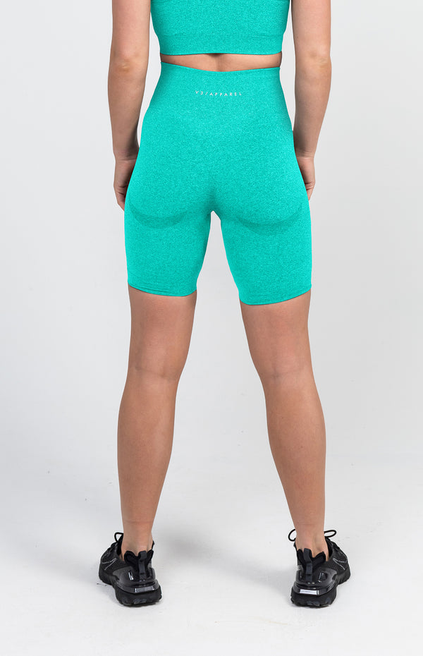 Uplift Seamless Shorts - Mint Marl