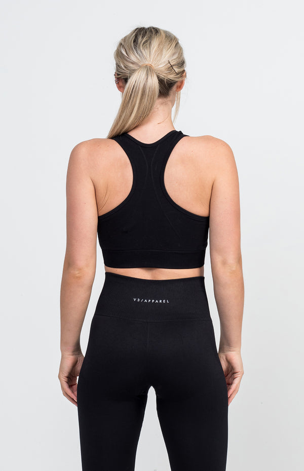 Curve Seamless Sports Bra - Black