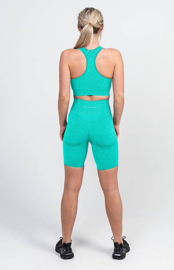 Uplift Seamless Shorts + Sports Bra - Mint Marl