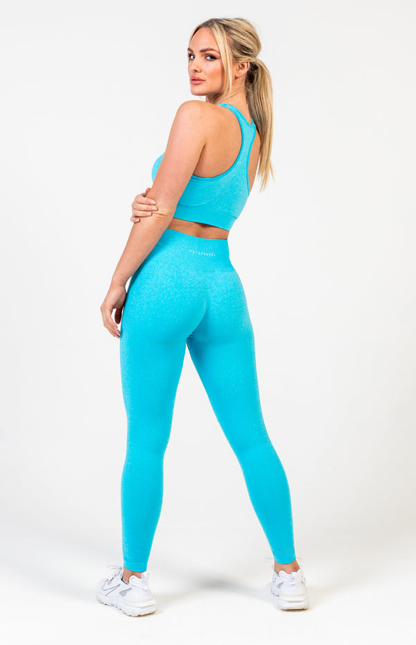 Uplift Seamless Set - Aqua Blue Marl