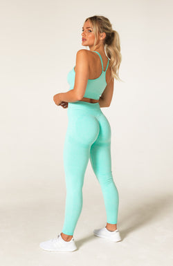 Define Seamless Scrunch Set - Mint Marl