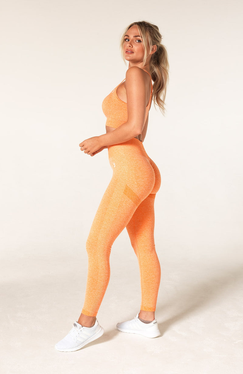 Define Seamless Scrunch Set - Orange Marl