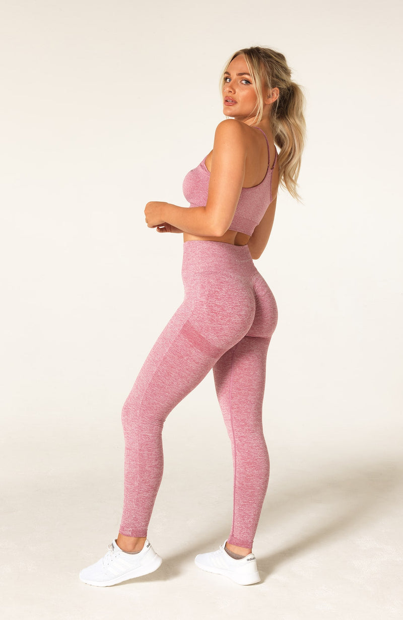 Define Seamless Scrunch Set - Pink Marl