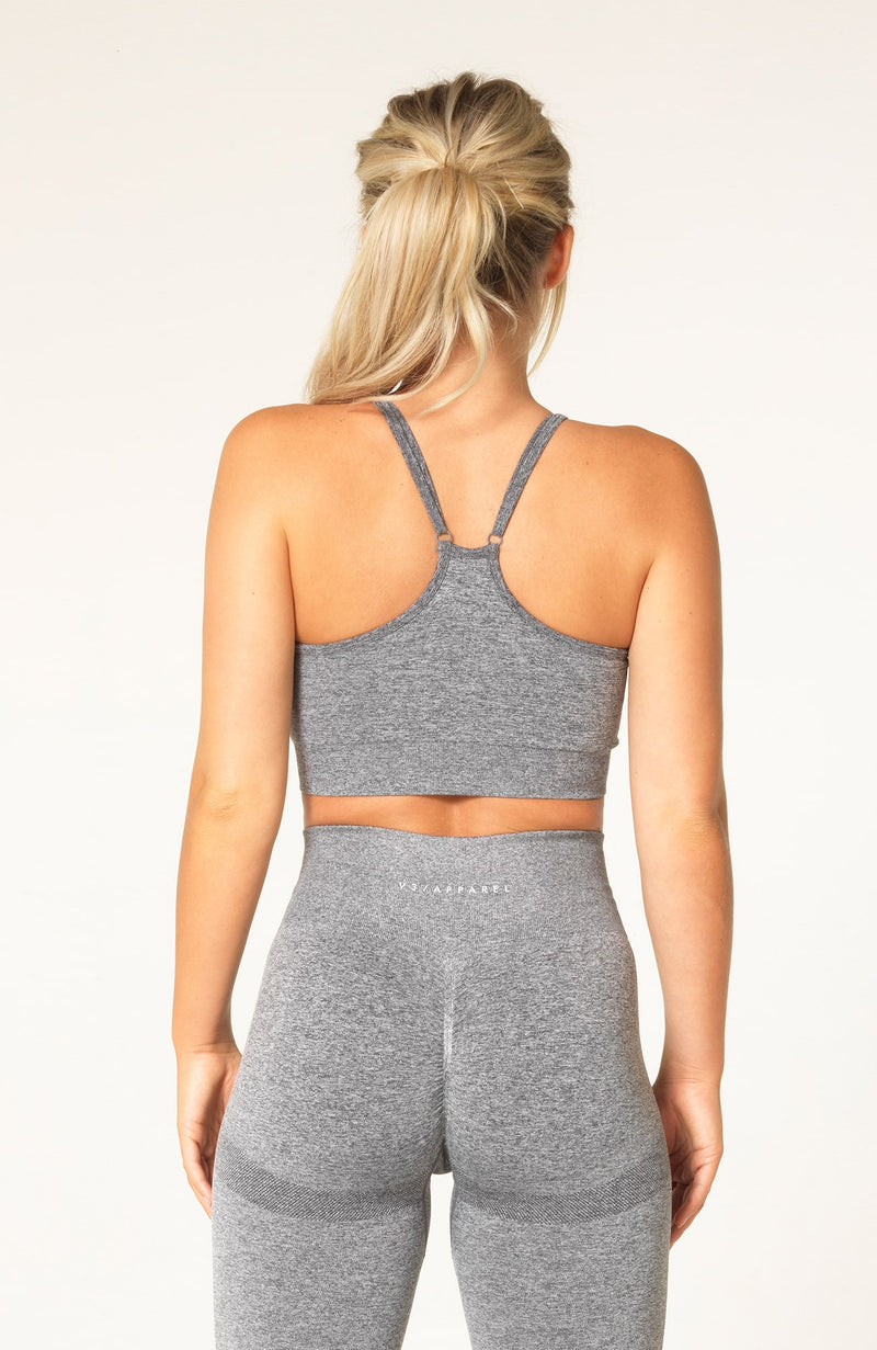Define Seamless Scrunch Sports Bra - Grey Marl