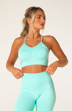 Define Seamless Scrunch Sports Bra - Mint Marl