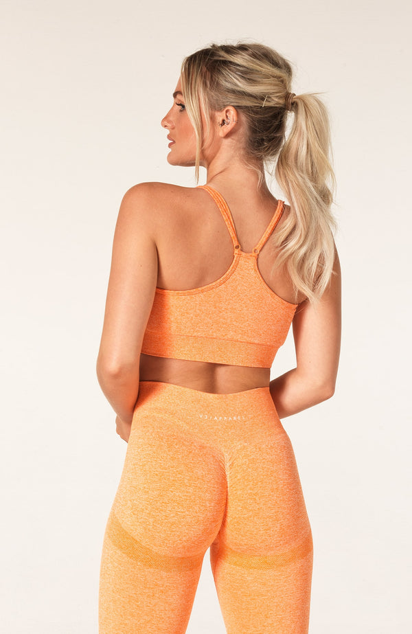 Define Seamless Scrunch Sports Bra - Orange Marl