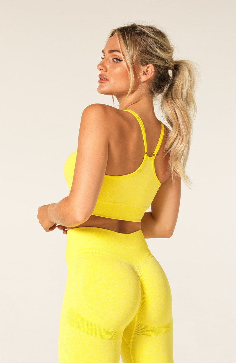 Define Seamless Scrunch Sports Bra - Yellow Marl