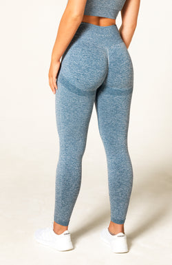 Define Seamless Scrunch Leggings - Blue Marl
