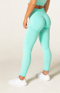Define Seamless Scrunch Leggings - Mint Marl