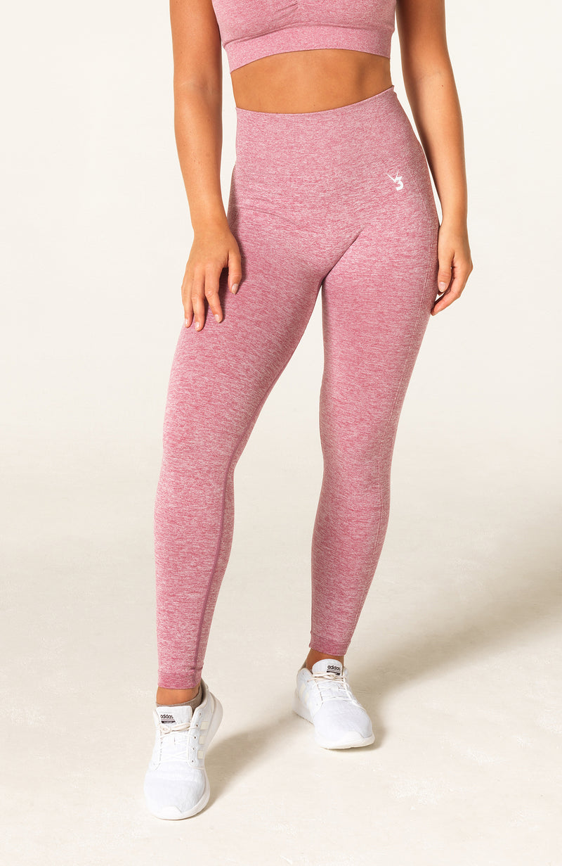 Define Seamless Scrunch Leggings - Pink Marl