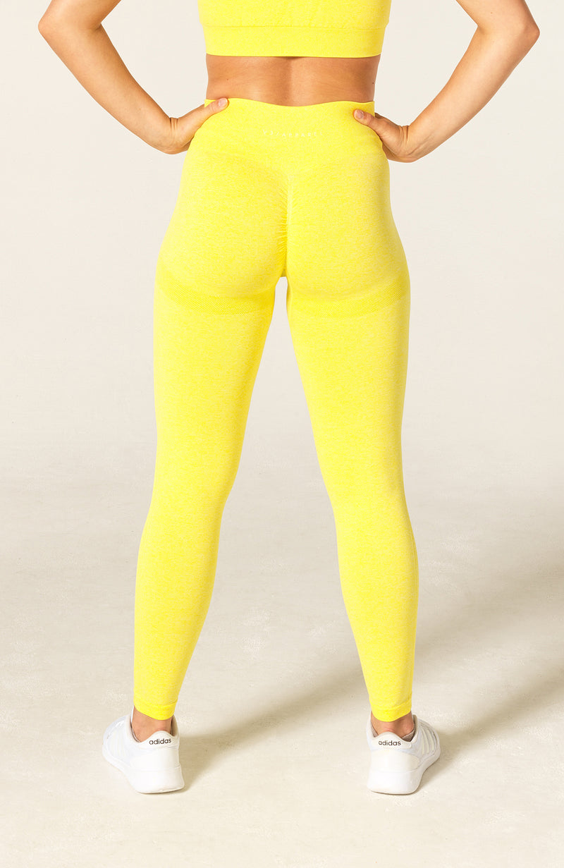 Define Seamless Scrunch Leggings - Yellow Marl