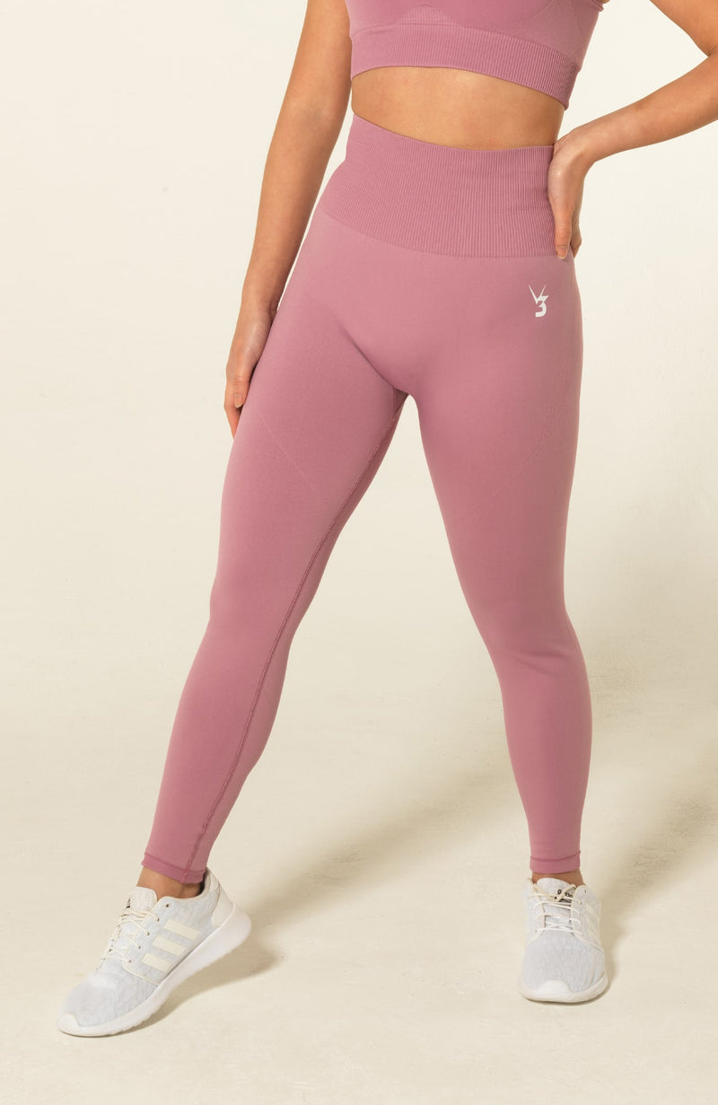 V3 Apparel Womens seamless squat proof fitness workout leggings curve pink
