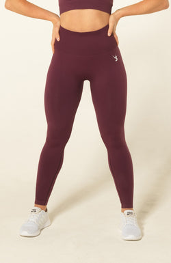 V3 Apparel Womens seamless squat proof fitness workout leggings curve plum