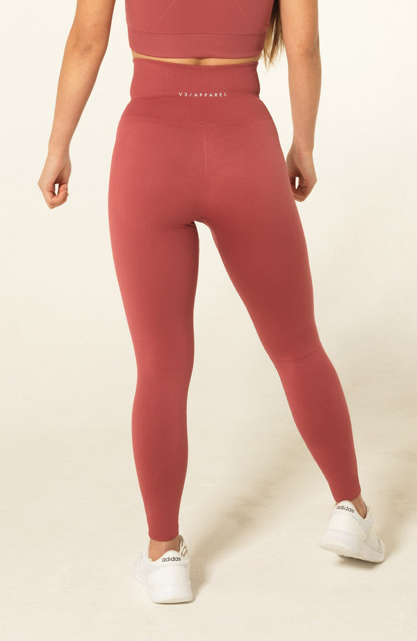 V3 Apparel Womens seamless squat proof fitness workout tights curve rose