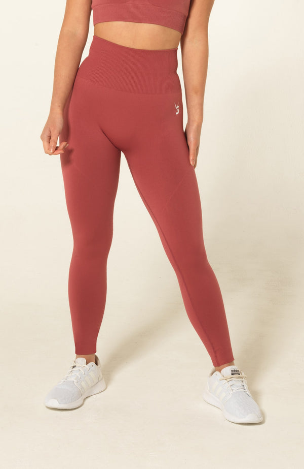 V3 Apparel Womens seamless squat proof fitness workout leggings curve rose